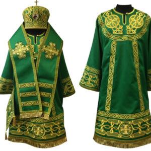Архиерейское облачения Ткань Рахмановский шелк , машинная вышивка .